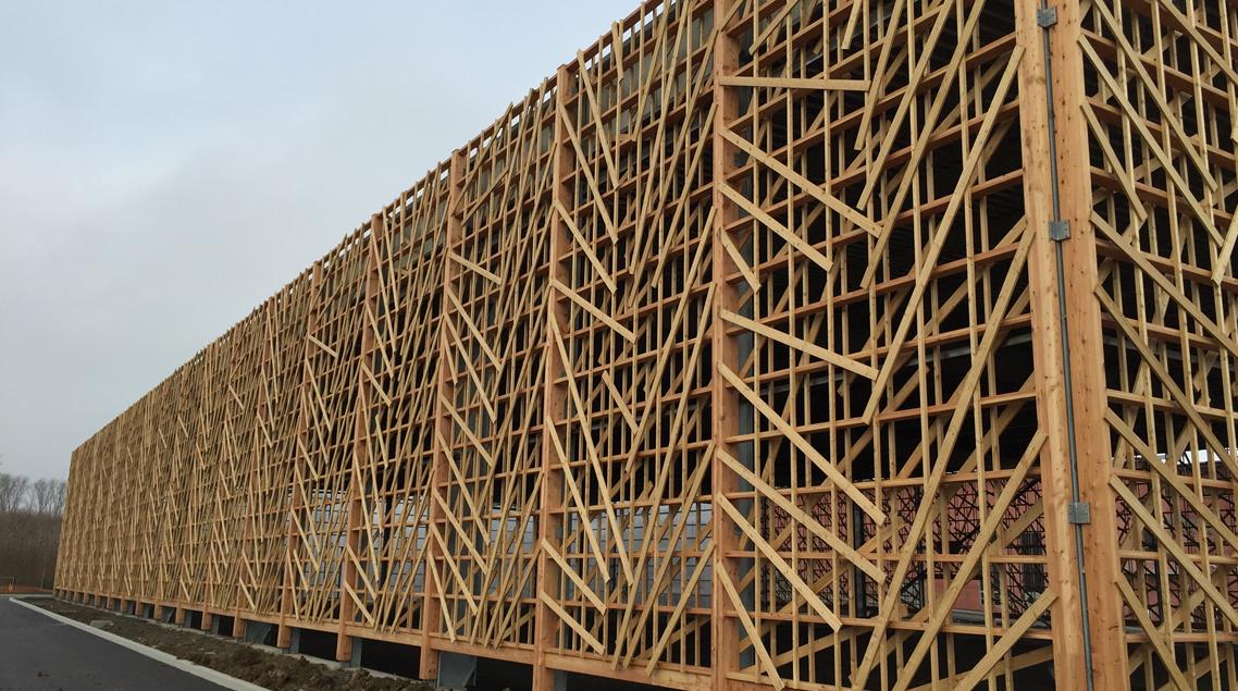 Bâtiment de stockage à la STEP de VILLENEUVE D'ASCQ